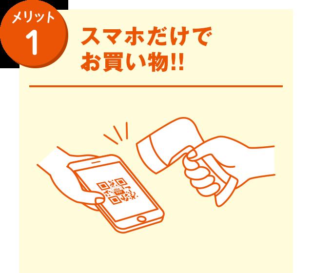 メリット1 スマホだけでお買い物!!